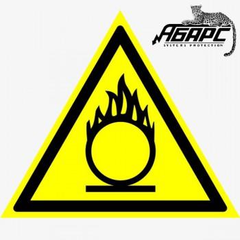 Пожароопасно. Окислитель (Наклейка)