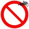 Запрещение (прочие опасности). Предупреждающий знак-наклейка
