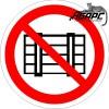 Запрещается загромождать проходы и (или) складировать (Наклейка)
