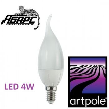 Лампа-свеча на ветру светодиодная (LED) Artpole 004313 4W E14