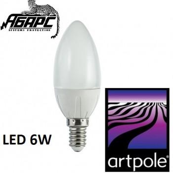 Лампа-свеча светодиодная (LED) Artpole 004416 6W E14