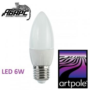 Лампа-свеча светодиодная (LED) Artpole 004419 6W E27