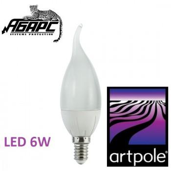 Лампа-свеча на ветру светодиодная (LED) Artpole 004422 6W E14