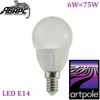 Лампа светодиодная (LED) Artpole 004686 6W E14