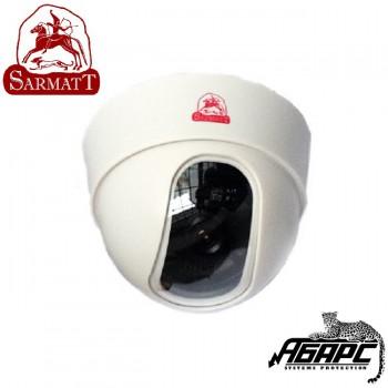 Видеокамера купольная цветная SR-D80F36 (SARMATT) белый корпус